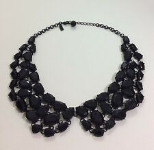 KATE SPADE PLAZA ATHENEE BLACK FACETED COLLAR NECKLACE