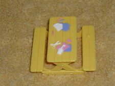 Fisher Price Sweet Streets Dollhouse Yellow Preschool Art Craft Picnic Table