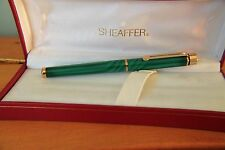 Sheaffer Targa Fountain Pen - Brand New Very Rare Emerald Green Swirl 1183