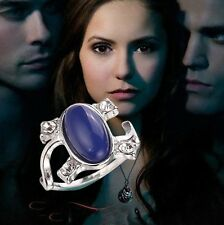 ELENA GILBERT DAYLIGHT RING THE VAMPIRE DIARIES BLUE AND SILVER COSPLAY