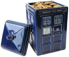 *NEW* Doctor Dr Who BLUE TARDIS Ceramic Biscuit Cookie Jar with Lid