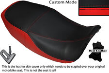 BLACK & RED CUSTOM FITS KAWASAKI GPZ 750 A1 A2 A3 DUAL LEATHER SEAT COVER
