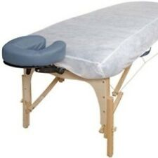 10 Ct. White Disposable Elastic Fitted Bed Sheets Cover Massage Table or Chair