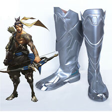 Hanzo Cosplay Costume Boots Paul Nakauchi Shoes Battle Boots Cos Accessories