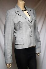 BENETTON  ITALY MADE GREY THIN PINK STRIPE LINES  BLAZER JACKET SIZE 38""
