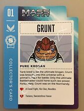 Mass Effect 1 2 3 4 Grunt Krogan Collector's Trading Card 01 - First in Series