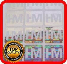 Ihr Logo und Text auf 600 Hologramm Etiketten Garantie Siegel Aufkleber 15x15mm