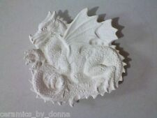 DRAGON TEABAG HOLDER CERAMIC READY TO PAINT JEWELRY TRAY DISH