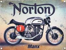 A4 SIZE - NORTON MOTOR BIKE MANX TT MOTORBIKE METAL TIN SIGN PLAQUE MAN CAVE 796