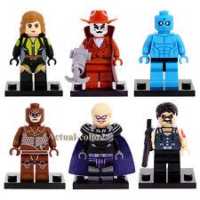 6pcs Watchmen Minifigures Silk Spectre Comedian Walter Kovacs Dr. Manhattan