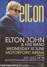 Event Promo Flyer: Elton John & His Band (Motorpoint Arena, Cardiff, 2015)