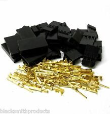 C1003GMF10 RC Futaba Set Male Female Battery Servo Connector Plug Full Gold 10