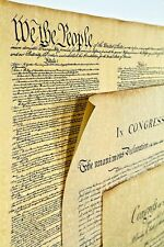 4 Major U.S. History Documents in Clear Plastic Tubes. High Quality Replica