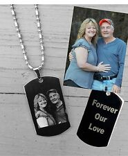 UNIQUE GIFT---Personalized Photo Engraved necklace or keychain