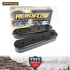 Holden Commodore VE VF V8 LS2 LS3 L98 L76 Aeroflow Black Fabricated Valve Covers