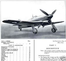 HAWKER TYPHOON & TEMPEST MANUALS + REPORT TEST DATA RARE RAF WW2 1940's Historic