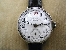 1916 SIR JOHN BENNETT LTD LONDON OFFICER'S TRENCH WATCH IN STERLING SILVER. RARE
