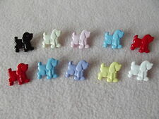 10 x MULTI-COLOURED DOG (Poodle) BUTTONS ~ Size 18mm x 20mm CHILDREN/CRAFT