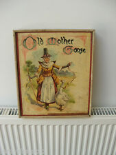 ANTIQUE WOOD JIGSAWS OLD MOTHER GOOSE 6 JIGSAWS BOX BOOK W WHITELEY LTD