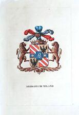 Araldica stemma araldico della famiglia Arrigoni di Milano
