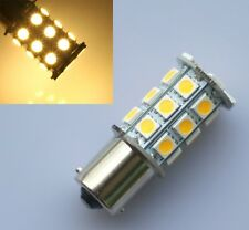 2x Warm White 27 SMD LED 1156 1141 1003 RV Camper Trailer Interior Light Bulbs