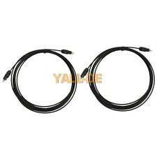 Lot 2X 3m 9.8ft M / M Digital Audio Optical Fiber Optic Toslink-Kabel Schwarz HK