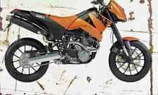 KTM 640 Duke 2003 Aged Vintage SIGN A4 Retro