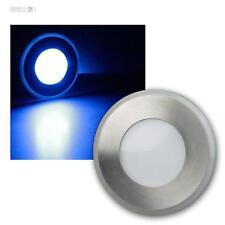 LED Bodenleuchte Edelstahl, Licht blau, 12V, Bodeneinbaustrahler, Bodenstrahler