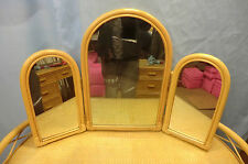 3 SECTION MIRROR, BRITISH MADE EXQUISITE CANE FURNITURE OFFERED at BIG SAVING!!