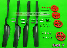 Parrot AR Drone 2.0 Parts Carbon Fiber Blades props RED Gears Shafts Bearings