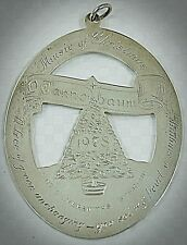 Vintage 1978 LUNT Sterling Silver Collectible Christmas Ornament Tree Children