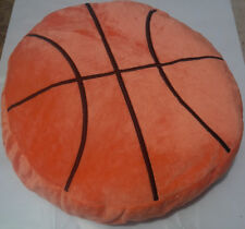 16 INCH PLUSH BASKETBALL PILLOW ORANGE BALL couch throw nba