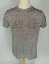 Vtg Paper Thin Distressed Burnout Worn Army Military USMC T Shirt L 50 50 Gray