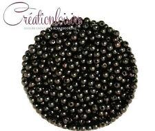 100 magnifiques perles rondes nacrées acryliques de diamètre 4 mm