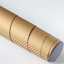 2x DIN A4 Wrapping Folie 3D Carbon Gold 21cm x 29,7cm Autofolie m Luftkanälen