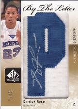 Derrick Rose 2011-12 SP Authentic By The Letter Patch Auto #'D 1/5