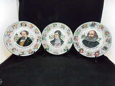 ROYAL DOULTON-3 GRANDES ASSIETTES REPRESENTANT DICKENS,BURNS ET SHAKESPEARE
