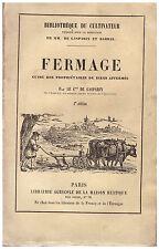 GASPARIN Comte de - FERMAGE GUIDE DES PROPRIETAIRES DE BIENS AFFERMES - 1855