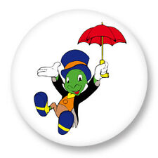 "Pin Button Badge Ø25mm 1"" Dessin Animé Jiminy Cricket Pinocchio"