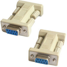 RS232 9 WAY FEMALE TO SOCKET COUPLER STRAIGHT ADAPTER-GENDER CHANGER DB9 SERIAL