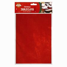CHRISTMAS FESTIVE TABLE COVER CLOTH PLAIN RED PARTY WEDDING DECOR 132 x 178cm