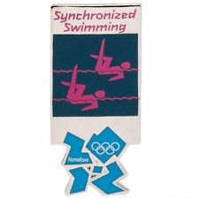 2012 London Olympics official pictogram Synchronized Swimming PIN badge MIP mint