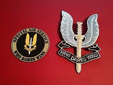 British Army SAS Cloth/Gold  Badge Patch Military + FREE SAS PHONE STICKER