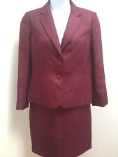 Calvin Klein 14 Skirt Suit Purple Quilted Lined 2 pc Jacket