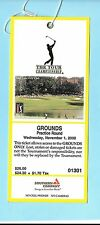 2000 Tour Championship East Lake Nov 1 PGA Ticket Phil Mickelson Winner