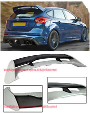 For 13-Up Ford Focus Hatchback RS Style ABS Plastic Rear Roof Trunk Wing Spoiler