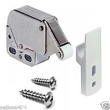 2 x Push To Open Touch Release Cabinet Cupboard Kitchen Catch Latch Press Spring