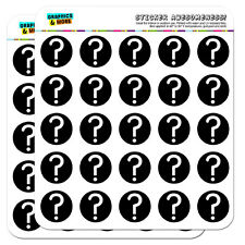"""Mystery Question Mark 1"""" Scrapbooking Crafting Stickers"""