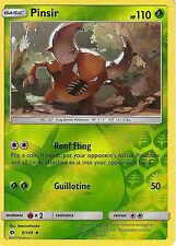 POKEMON SUN & MOON CARD: PINSIR - 6/149 - REVERSE HOLO