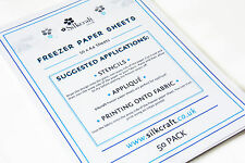 Freezer Paper Sheets x 50 - A4 -SIZE BARGAIN